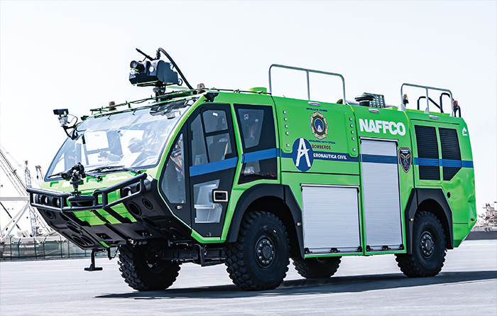 13 NAFFCO 4x4 and 6x6 ARFF Vehicles delivered to Colombia